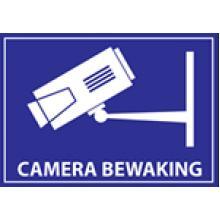 Sticker 'Camera Bewaking'